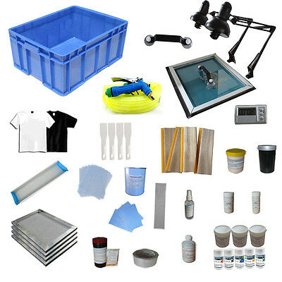 4 Color Silk Screening Materials Supply Kit  Screen Printing Hand Tools Ink