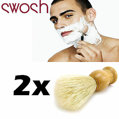 2 x SWOSH Shaving Brushes For Mens Facial Grooming and Personal Care Cosmetic