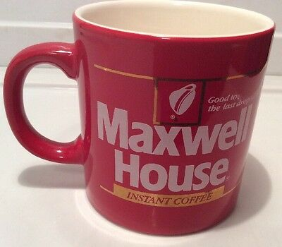"""Maxwell House Red Coffee Cup Mug """"Good To The Last Drop"""""""