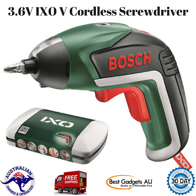 New Bosch 3.6V IXO V Cordless Screwdriver Charger Case with 10 Bits