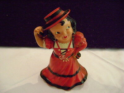 Vintage Antique CELLULOID DOLL ****LOOK**SMALL-LARGE Vintage Powder RED Dress