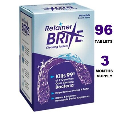Dental Oral Retainer Brite Cleaning Braces NightGuards ~ 96 Tablets 3 Months