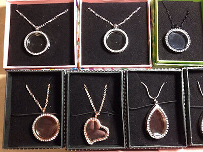 Lot of 50 Floating Lockets w/ Chains & Gift Boxes Included