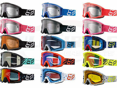 Fox Racing Main Goggles Motocross MX ATV UTV Offroad Dirtbike Antifog Adult