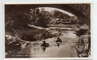 """""postcard The Coracle Men,newcastle Emlyn,carmarthenshire,wales"""""