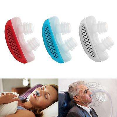 New Anti Stop Snoring Snore Free Magnetic Silicone Snore Stopper Sleep Device UK