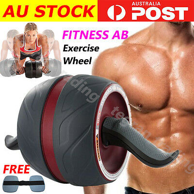 Perfect Fitness Ab Carver Pro Exercise Wheel Roller Six Pack Abs Workout Gym Red