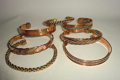 Magnetic Copper Bracelets- Various Designs To Choose From - PURE COPPER
