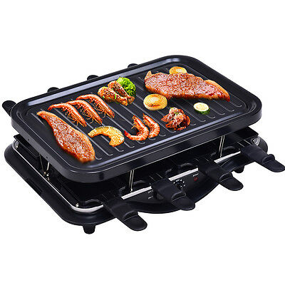 neuw elektr raclette grill bis 8 pers raclette grill mit hei em stein ovp eur 8 27. Black Bedroom Furniture Sets. Home Design Ideas