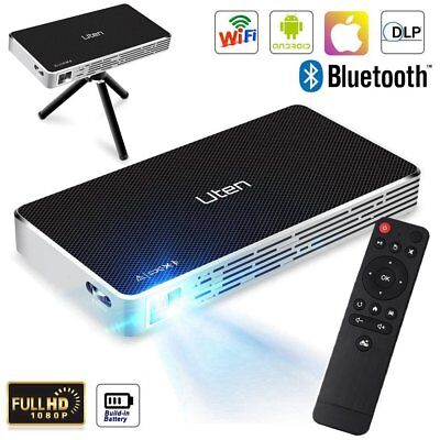 Mini DLP Projektor Beamer Android Wifi 1080P HD Heimkino Projector Bluetooth