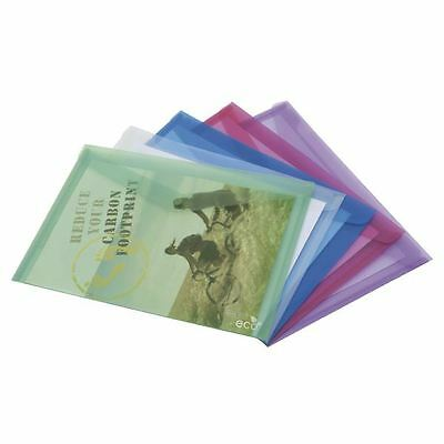 Rapesco ECO Popper Wallet A4 Assorted (Pack of 5) 1039 [HT15175]