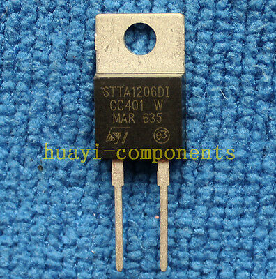 5pcs STTA1206DI TO-220 TURBOSWITCH ULTRA-FAST HIGH VOLTAGE DIODE