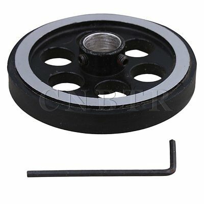 Aluminum Encoder Wheel Meter Wheel for Rotary Encoder 200mmx12mm w/Wrench