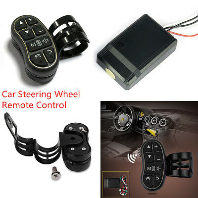 Car Auto DVD Video Player GPS Navigation Steering Wheel Wireless Remote Control