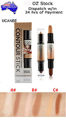 Double-Ended 2in1 Contour Stick Creamy Contouring Highlighter Bronzer Concealer