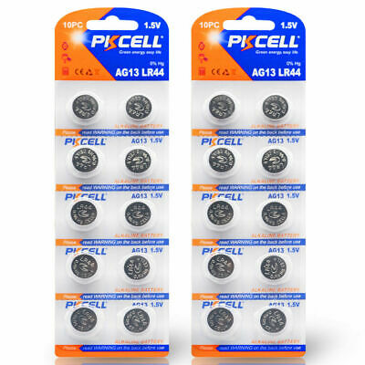 20x AG13 Alkaline LR44 L1154 357 303 A76 SR44 bottom Coin Cell Watch Batteries