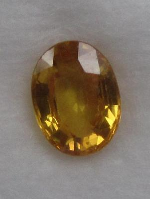 Saphir Jaune Naturel Certifie - 1.82 Ct