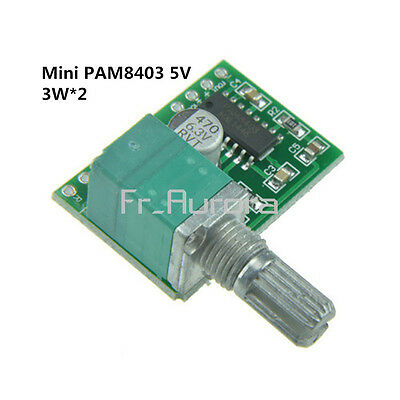 Mini PAM8403 5V 2 Channel USB Power Audio Amplifier Board 3Wx2 Volume