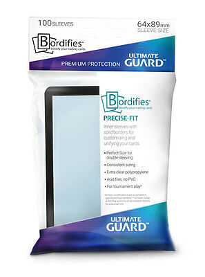 x100 Bordifies™ Precise-Fit Sleeves taille standard Noir Magic Ultimate Guard