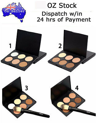 Contour 6 Colour Palette Make Up Bronzer Shading Mineral Pressed Powder + Brush