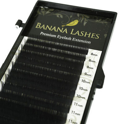 Eyelash Extensions Mixed Length Tray Faux Mink 8mm-13mm C/D Curl 0.15/0.07