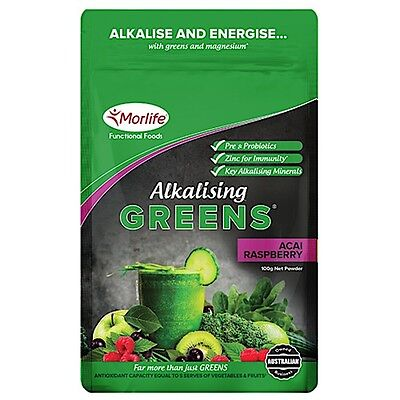 Morlife PH 7.1 Alkalising Greens 300g- 3 flavours - Far More Than Just Greens