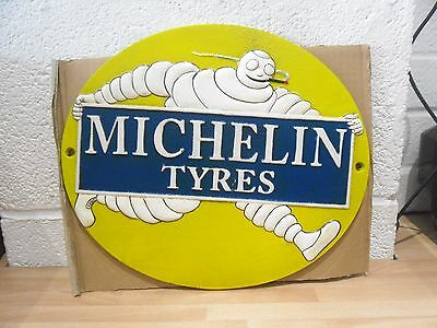 cast iron Michelin tyres sign