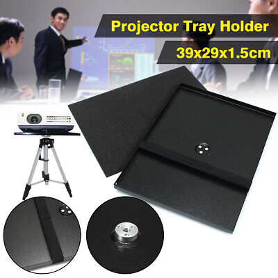 """Metal Projector Tray Holder For 1/4'' 3/8'' Screw Tripod Stand & 7""""- 15"""" Laptop"""