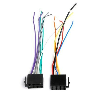 1 Pair Universal Female ISO Wiring Harness Car Radio Connector Adaptor Wire Plug