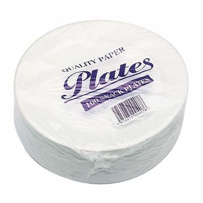 Paper Plate 7 Inch White (Pack of 100) 0511040 [CPD75061]