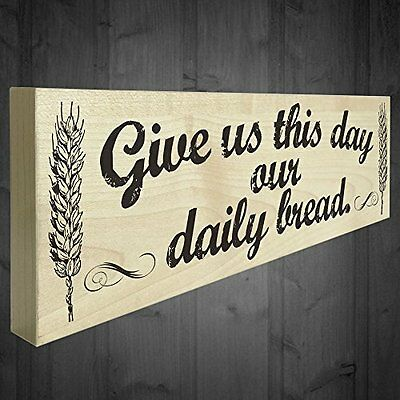 Red Ocean Give Us This Day Our Daily Bread Wooden Freestanding Shabby Chic