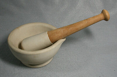 Vintage Apothecary Mortar and Pestle - Made in England