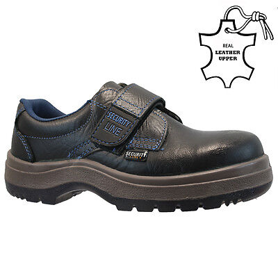 Ladies Leather Velcro Steel Toe Cap Safety Work Hiker Trainers Shoes Boots Size