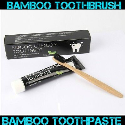 Express Post Bamboo Charcoal Toothpaste+White Master Carbon Coco Organic Powder