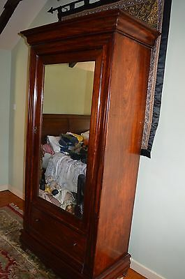 Antique 19th Century Mahogany Single Wardrobe /Drawer, Druce and Company,c1890