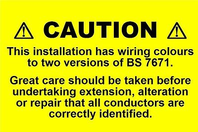 Mini Electrical Caution Harmonised Labels / Stickers (76 x 51mm) -non rip
