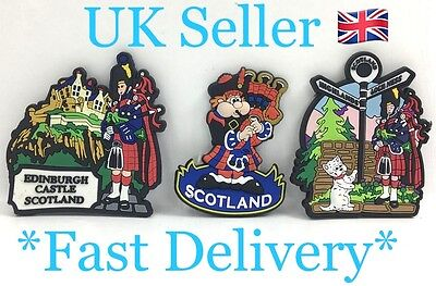 Scotland Scottish Souvenir Fridge Magnet Edinburgh Castle Highlands Lochness UK