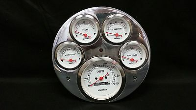 1949 1950 Chevy Car Gauge Cluster White