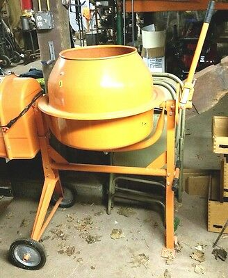 CENTRAL MACHINERY 3-1/2 Cubic Ft. Portable Solid Steel Cement Mixer