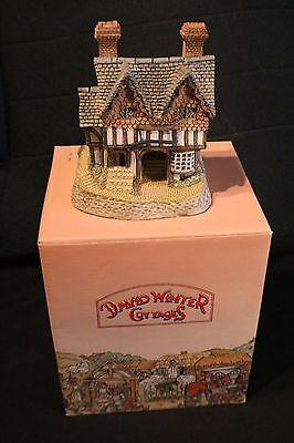 """David Winter Cottages """"Gunsmiths Cottage"""" with Original Box and COA (1987)"""