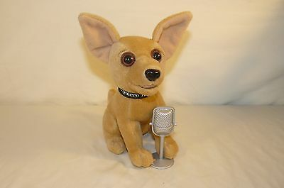 "Yo Quiero Taco Bell Chihuahua Plush Stuffed Animal Microphone 7"" Tall"