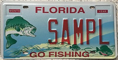 GENUINE American Florida Go Fishing Sample USA License Number Plate SAMPL