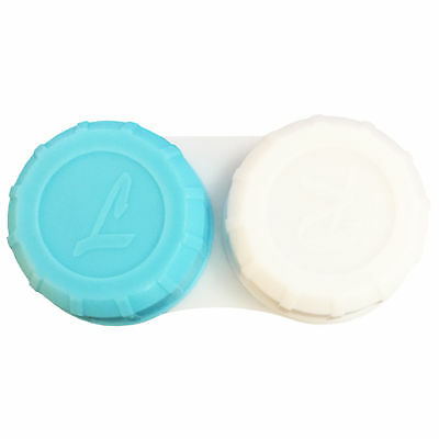 Contact Lens Holder Storage Case Travel Cleaning Soaking Lenses Left/Right NEW
