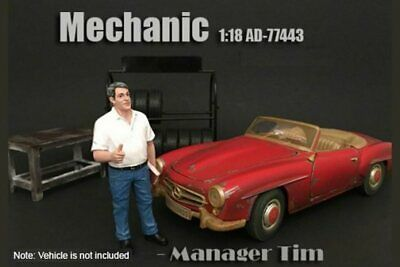 Mechanic Manager Tim American Diorama 77443 1/18 Diecast Car Accessory