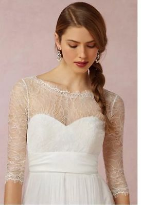 BHLDN JENNY YOO Ivory Marnie Lace Topper - Wedding dress cover-up size XL
