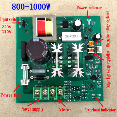 AC 110V/220V Permanent Magnet DC Motor Speed Controller Control Board 800W-1000W