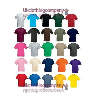 Adulto Fruit of the Loom Valueweight T-Shirt - manica corta maglia, S ad 5XL
