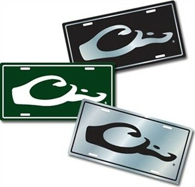 DW80122GRN Drake Outdoors Waterfowl Logo License Plate Green