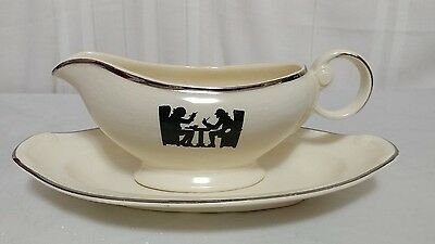 Hall Silhouette from Taylor Smith Taylor Gravy Boat with Underplate
