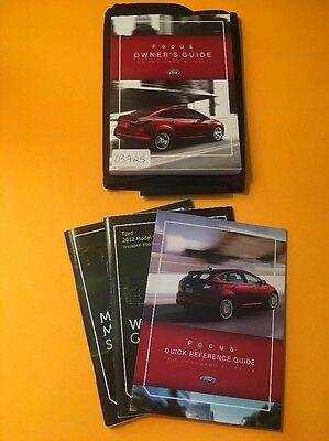 2012 Ford Focus Owner's Manual [03825] 4 Book Set With Case
